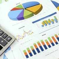 Image of financial charts and graphs