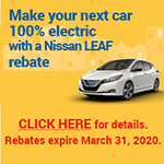 Nissan LEAF rebate button